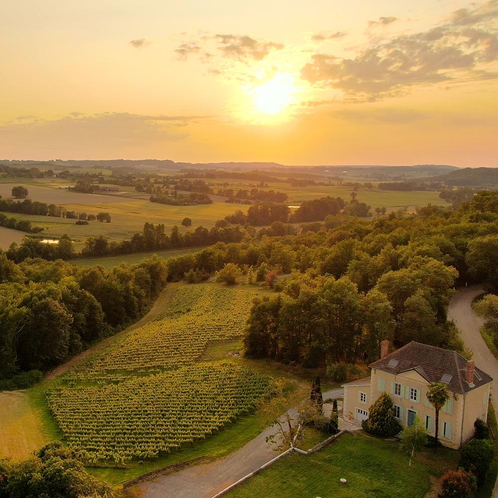 Vol en Ulm au dessus du vignoble de Madiran - Domaine Capmartin